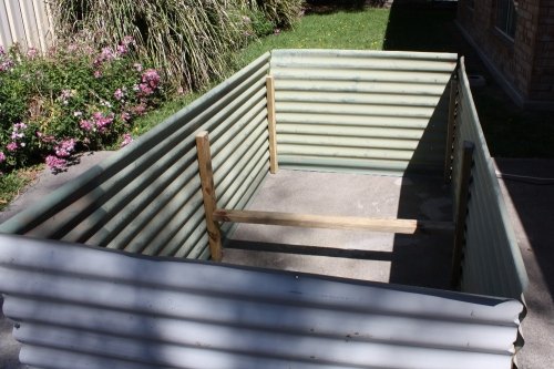 Pin Corrugated Iron Timber Raised Garden Bed Picture on
